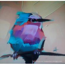 Pintura de pájaros en lona