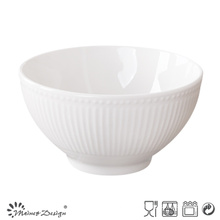 Embossed Ceramic Curry Porcelain Bowl