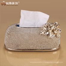 nouvelle marque design luxueux haut de gamme boîte de serviette décorative de dîner