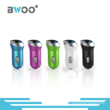 Mini chargeur de voiture USB multi couleur pour tous les téléphones mobiles
