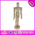 Jouet en bois de mannequin de dessin à vendre, mannequin en bois de mannequin en bois rotatif de mannequin d'art Mannequin en bois de mannequin d'art W06D041-a