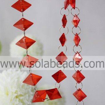 For Event 8.5*20*30mm  Crystal Beading Garland Curtain