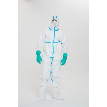 Robe d'isolement médicale jetable respirante confortable