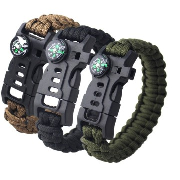 Outdoor Camping Survival Gear Paracord Armband