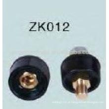 Hot vendas Black Cable soldagem conector ZK012 Masculino / Feminino