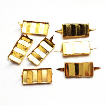 Pronged Rectangular Studs Faced Ripple