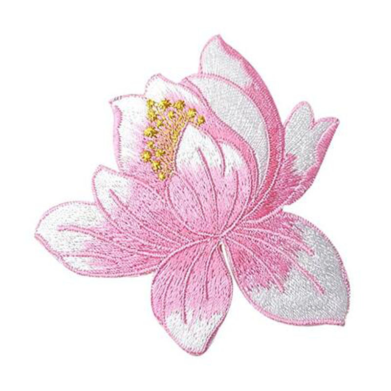 Cute Lotus Applique Clothing Embroidery Patch