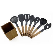 7 шт. нейлон кухонная утварь комплект с держателем