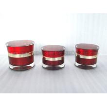 Pot Acrylique Lotion rouge taille mince avec 15g 30g 50g