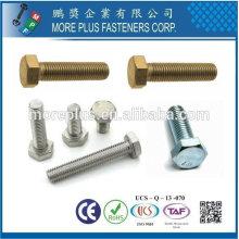 Taiwán Acero inoxidable 4.8 DIN933 ISO4017 ANSI B18.2.3.1M Sechskantschrauben Tornillo de cabeza hexagonal Tornillo de rosca completo Hex Bolt