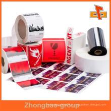 Guangzhou fabricante de impressão por grosso e material de embalagem personalizável adesivos de metal adesivo