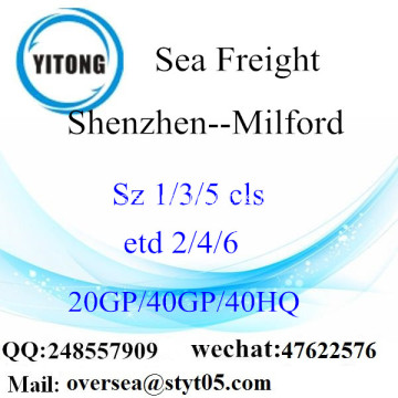 Shenzhen Port Sea Freight Shipping ke Milford
