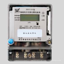 Medidor Eletrônico Eletrônico de Watt-Hour de Fase Única com Função Pré-Pagada