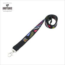 """100PCS Llavero de correa de cuello negro de alta calidad para la tarjeta de identificación / teléfono celular 3/4 """"(20 mm) de ancho"""