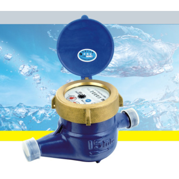 Compteur d'eau humide à palettes