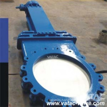 Manual Operated Soft Seated CS/Ss Wafer Knife Gate Valve