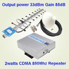 33dBm Alta Potencia CDMA Lte 800MHz Amplificador de Señal Celular