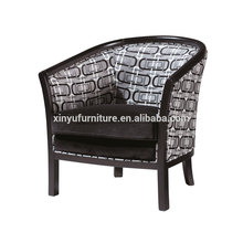 Soft solid arm wooden hotel chair XY2628