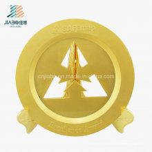 O ouro feito sob encomenda da escavação da amostra livre comemora a bandeja com suporte