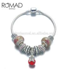 OEM jewelry charm bracelet, gold color 24k gold bracelet, rose copper alloy bracelet for women