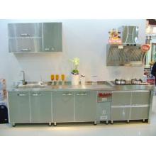 Gabinetes de cocina de acero inoxidable # 304 fuertes