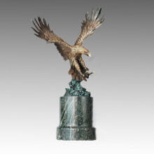 Animal Bronze Sculpture Eagle Carving Deco Brass Statue Tpal-263