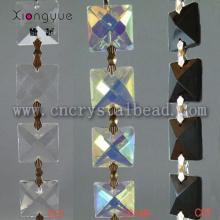 Площадь кристалла вышитый бисером цепи, связанные с бабочкой