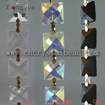 Crystal Square Perlen Ketten verbunden mit Bowtie