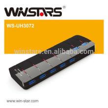 7 Anschlüsse USB 3.0 HUB mit Netzteil, 5Gbps usb 3.0 Hub, Plug-n-Play Fuction, CE, FCC