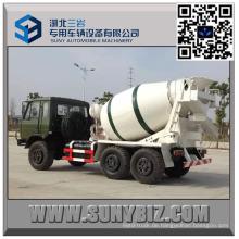 DFAC CUMMINS Motor 4 Cbm weg von der Straße Cement Mixer Truck