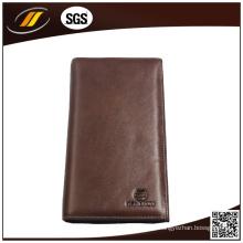 Carteira de couro genuíno personalizada, carteira masculina, porta-moedas de couro