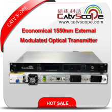 Китай Поставщик высокопроизводительный экономичный CATV 1550nm внешний модулированный оптический передатчик лазера