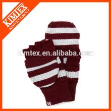 Acrylic knit crochet flip pop top glove