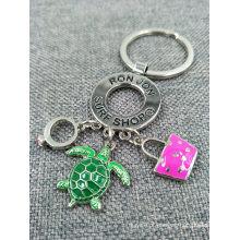 O metal feito sob encomenda relativo à promoção Pendents encanta o anel chave / Keychain