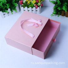 Rectangle+pink+drawer+cardboard+packaging+paper+gift+box