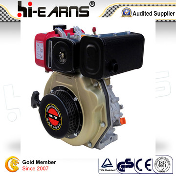 Diesel Engine with Keyway Shaft Red Golden Color 3600rpm (HR178F)