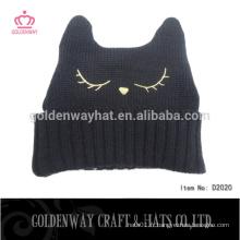 Belle conception personnalisée chapeau forme tricot slouchy pom beanie chapeau tricoté