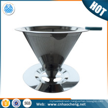 Stainless Steel Perforated Cylinder Coffee Filter/Pour Over Coffee Dripper/Cone Coffee Filter For Chemex Coffee Maker