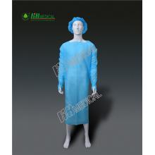 robe jetable en PE bleu