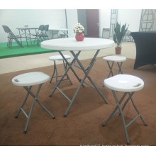 80cm Plastic Folding Round Study Table Made in China, Small Plastic Round Table, Coffee Table, Plastic Table for Sale