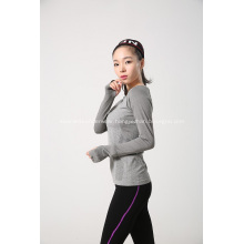 Seamless Ladies Knitted Long Sleeve For Sport Train