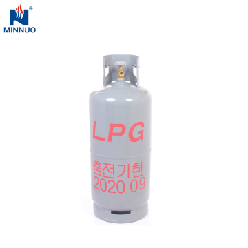Coréia do Sul 20 kg cilindro gpl, grande armazenamento, uso doméstico