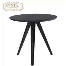 Venta al por mayor muebles de restaurante madera redonda mesa de comedor diseño de moda