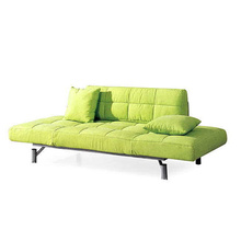 Cushioned Fabric Recliner Settee Single Sofa Bed