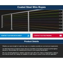 Sistemas de barandillas / catenarias / Líneas de lavadoAspección / Seguridad / Sistemas de cable de bloqueo / Barrera de alambre RECUBIERTO