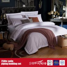 250TC хлопок Сатин вышивка постельное белье отель постельное белье Оптовая