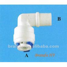 Tipo de rosca y tipo de montaje rápido Adaptador de codo masculino de 90 grados para la industria de tratamiento de agua