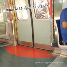 China Fábrica Qualidade Superior PVC / Piso Homogêneo para o Aeroporto / Metrô / Ônibus