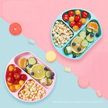 High Quality Divided Toddler Plate Set Food Bowls Baby Dinner Plate With Suction Kids Baby Silicone Feeding Plate