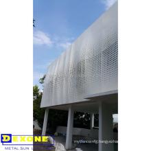 Aluminum metal wall decor as building decoration
